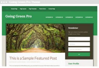 Going Green Pro Thema door website ontwerper in Delft