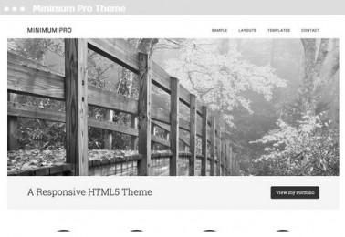 website ontwerp portfolio Minimum Pro theme