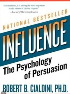 marketing boek: Influence - the Psychology of Persuation by author Cialdini