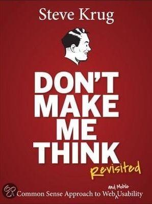 website boek: don't make me think by Steve Krug