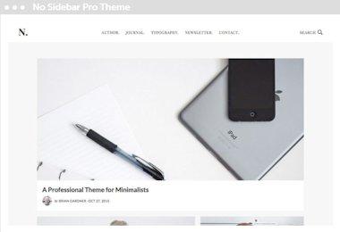 WordPress genesis child thema: no sidebar pro