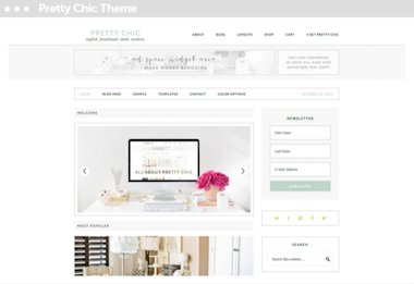 wordpress webwinkel met pretty chic thema en woocommerce