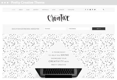 webwinkel thema voor wordpress: pretty creative pro