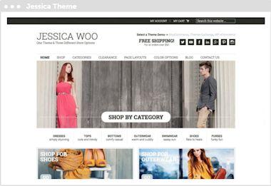 WordPress webwinkel thema Jessic Woo met woocommerce, ithemes exchange en wp ecommerce