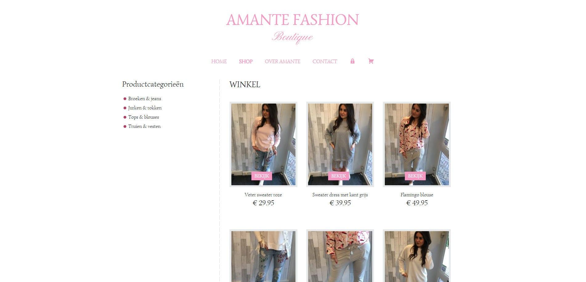 Meij Design & Survey portfolio WordPress webshop voorbeeld met Genesis Jessica