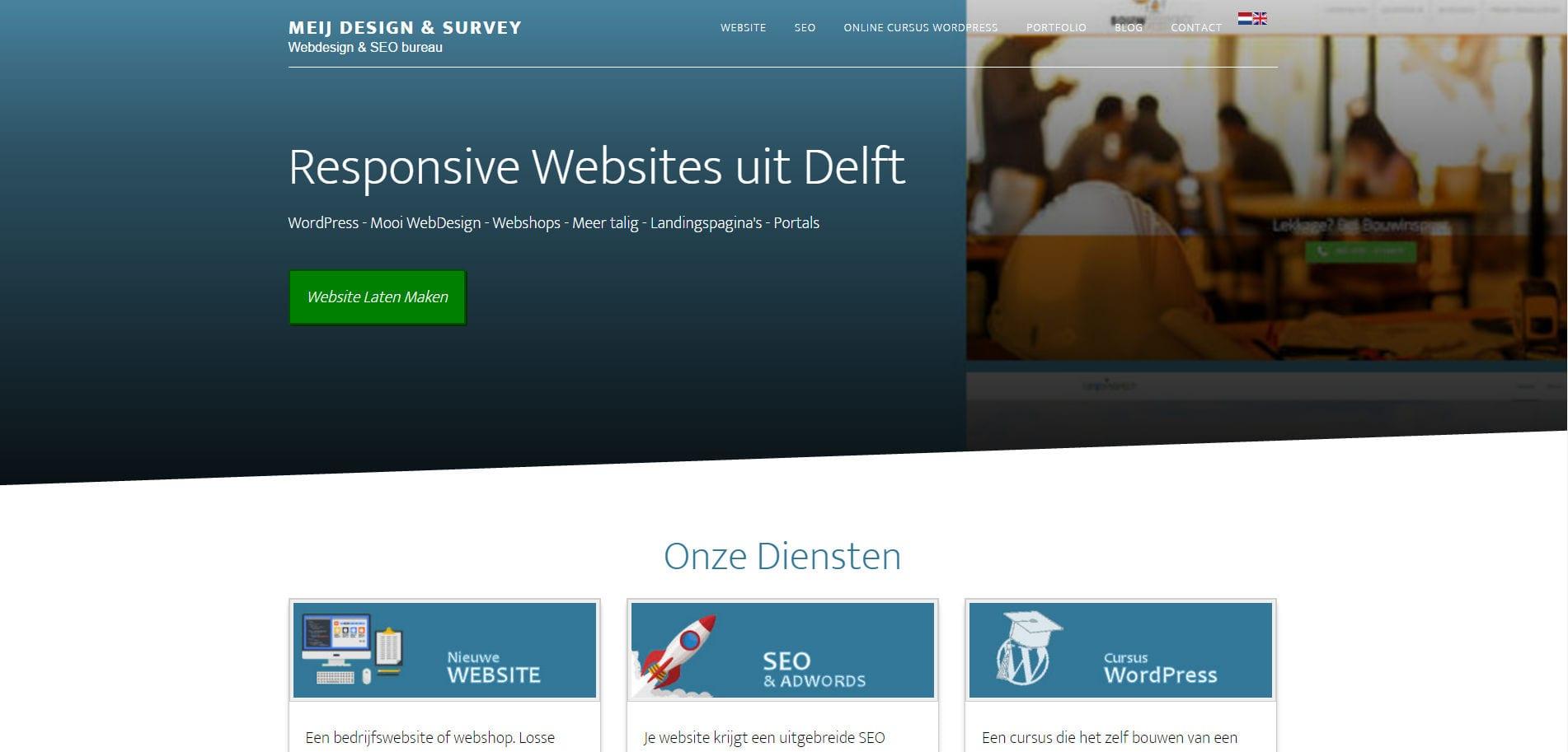 Meij WebDesign portfolio gebouwd met WordPress Genesis Altitude Pro