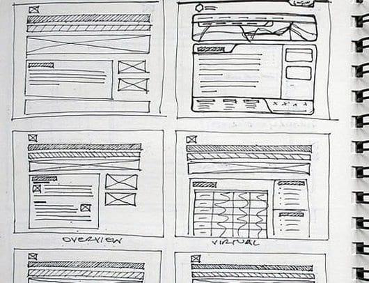 wireframe tekenen voor je nieuwe website