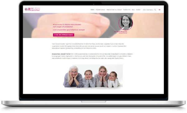 portfolio webdesigner GIlles :auryn-acupunctuur.nl