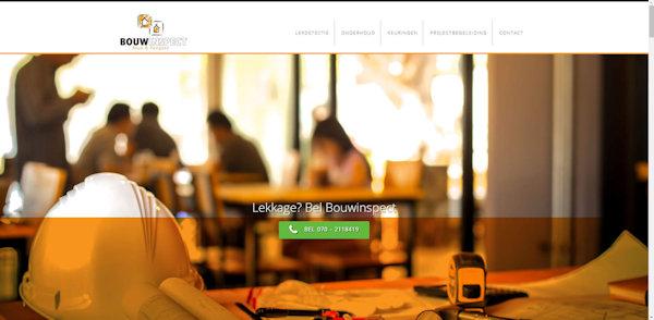 website bouwinspect gemaakt door meij webdesign