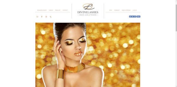 website divinelashes gemaakt door meijwebdesign