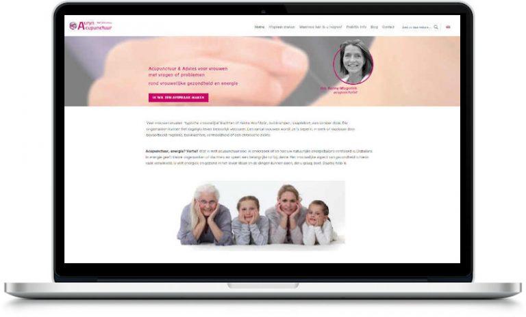 portfolio meijwebdesign website auryn acupunctuur in laptop 800px