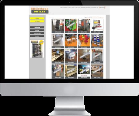 portfolio webdesigner GIlles :bibliotheek outlet