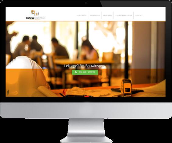 portfolio webdesigner GIlles :bouwinspect.nl