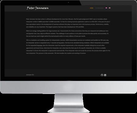 portfolio webdesigner GIlles : jannesen.com