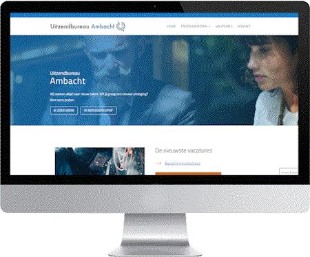 website uitzendbureau ambacht gemaakt door meij webdesign