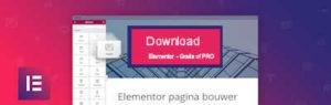 knop om plugin Elementor te downladen