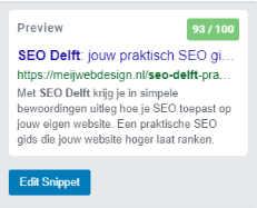preview snippet SEO Delft jouw praktische SEO gids