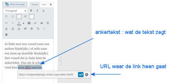 SEO Delft uitleg ankertekst versus link url
