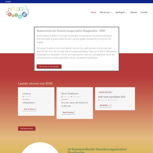Sepciale website voor een vereniging, inclusief leden