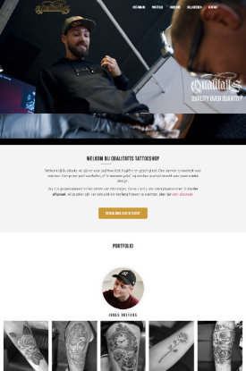 wordpress website portfolio tattooshop met intro video
