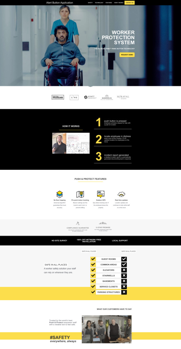 portfolio webdesign alertbutton app
