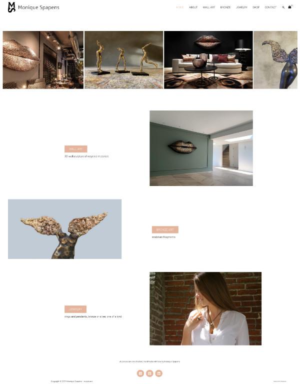 portfolio meijwebdesign kunstenaar monique spapens