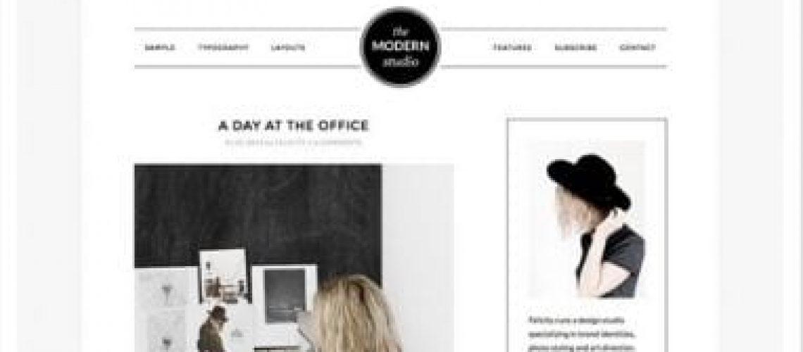 modern studio pro thema, website ontwerp